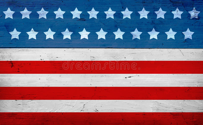 July 4th background, flag colors stock photo