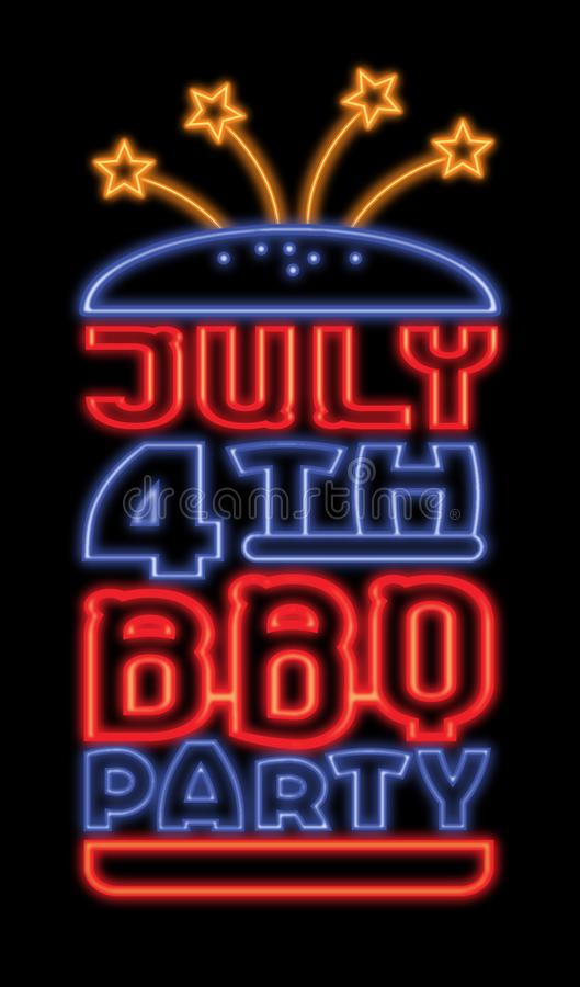 July 4th BBQ royalty free illustration