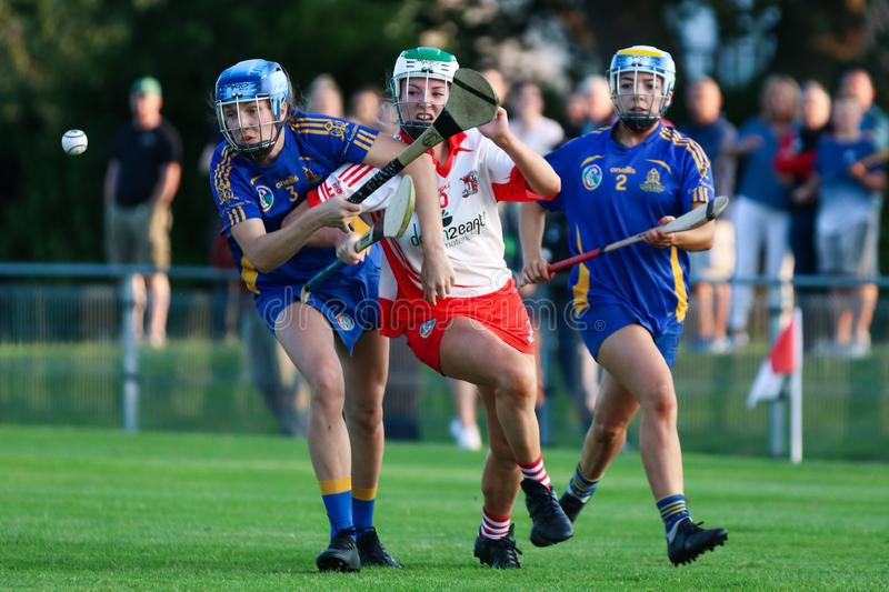 Isobelle O Regan at the SE Systems Cork Camogie Senior Club Championship: St. Finbarrs v Ballygarvan royalty free stock photography