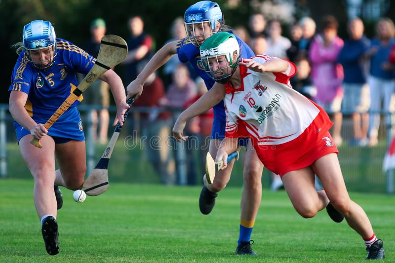 Isobelle O Regan at the SE Systems Cork Camogie Senior Club Championship: St. Finbarrs v Ballygarvan stock images