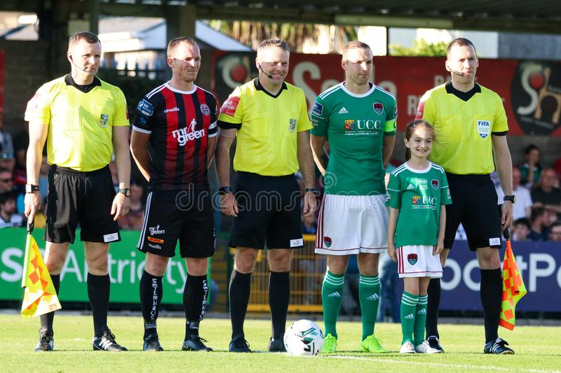 League of Ireland Premier Division match: Cork City FC vs Bohemian FC. July 5th, 2019, Cork, Ireland - League of Ireland Premier Division match: Cork City FC vs royalty free stock image