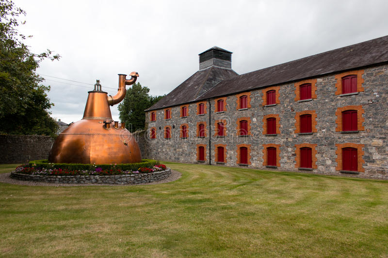 July 29th, 2017, Distillers Walk, Midleton, Co Cork, Ireland - Old copper container outside of the Jameson Experience stock photo