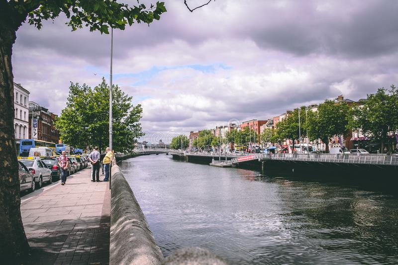 July 26th, 2011, Dublin, Ireland - city centre royalty free stock photography