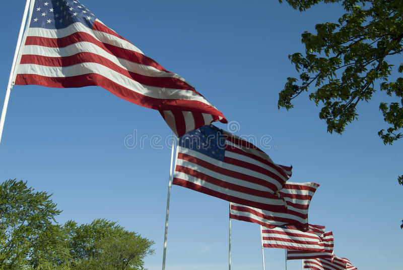 July 4th Flags royalty free stock image