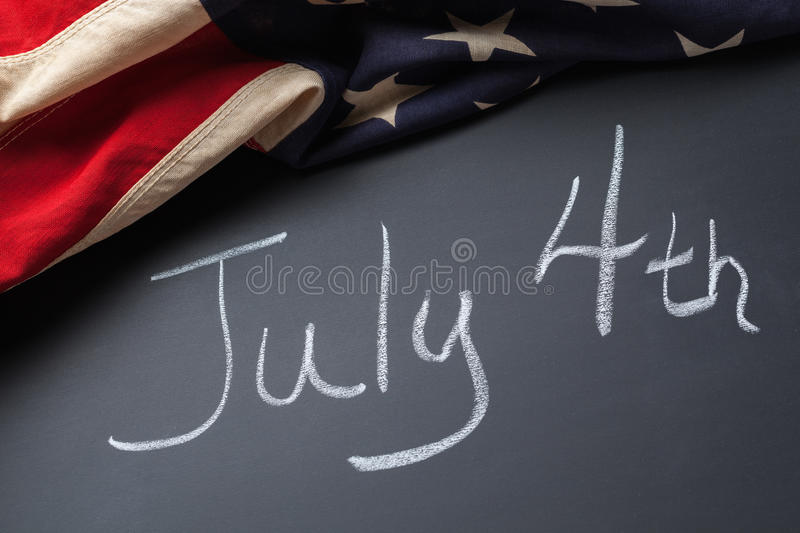July 4th Sign royalty free stock images