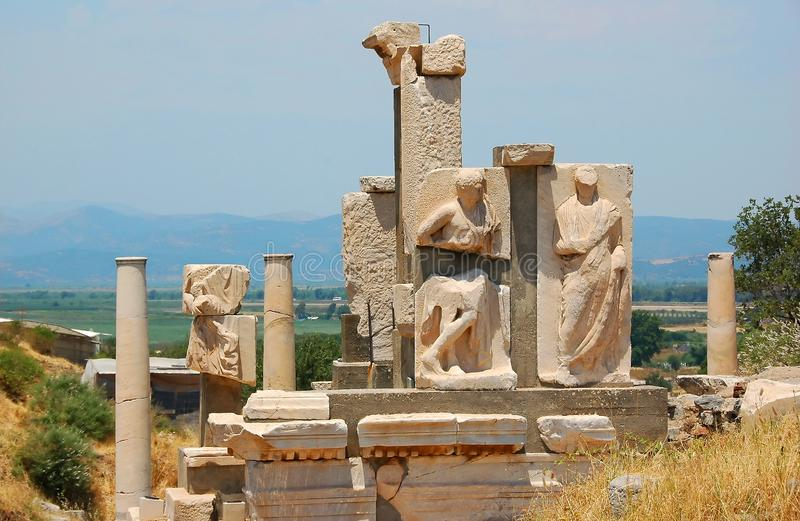 July 27, 2008. Turkey. Bodrum. Architecture and attractions! Historical monuments, archaeological excavations. stock photo