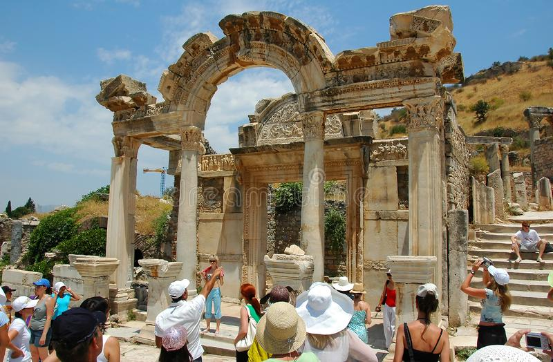 July 27, 2008. Turkey. Bodrum. Architecture and attractions! Historical monuments, archaeological excavations. stock photography
