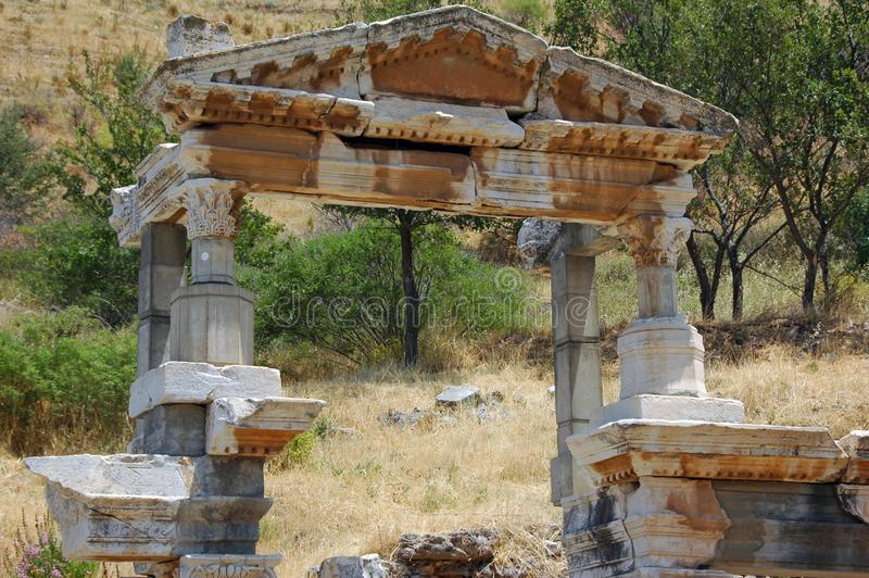 July 27, 2008. Turkey. Bodrum. Architecture and attractions! Historical monuments, archaeological excavations. royalty free stock photo