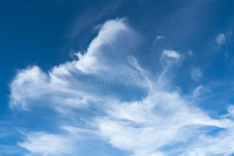 July Wispy Clouds stock photography