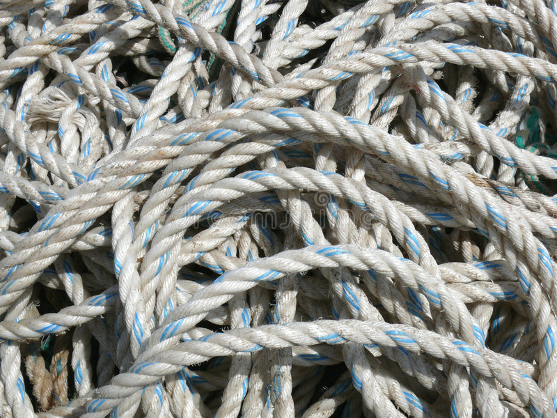 Jumble of ropes royalty free stock image