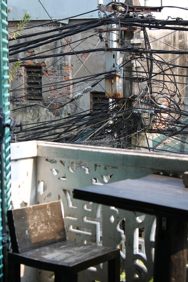 Jumble of Wires stock photos