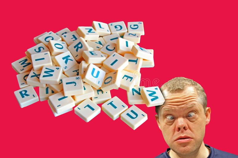 Jumbled scrambled words letters dyslexia confusion phobia royalty free stock photography