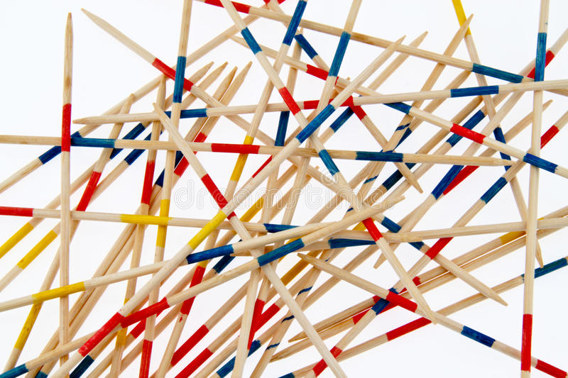 Jumbled wooden sticks. A details of a pile of jumbled, chaotic pile of wooden sticks. Theme: chaos, networking royalty free stock photography