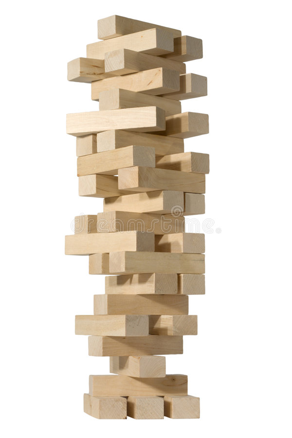 Jumbling tower with clippath royalty free stock photos