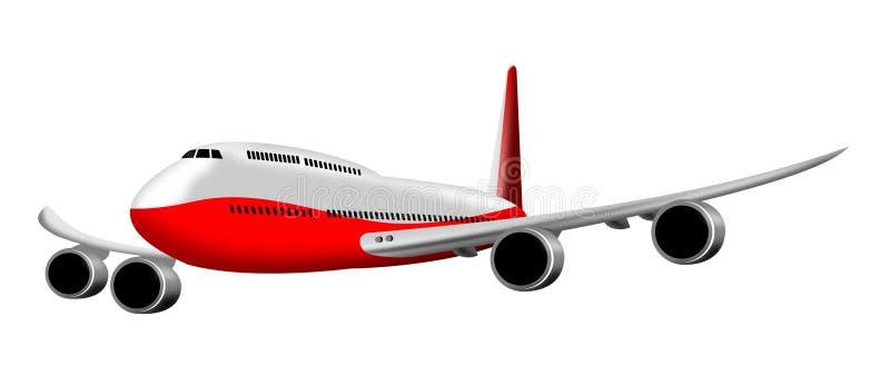 jumbo dżetowy samolot ilustracji