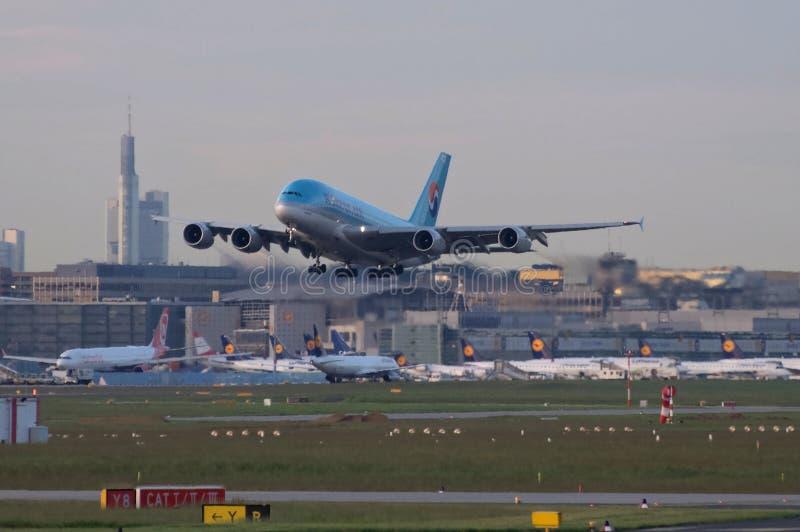 Jumbo eccellente del Korean Airlines immagine stock libera da diritti