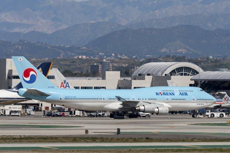 Jumbo-jet di Korean Air Boeing 747 fotografia stock