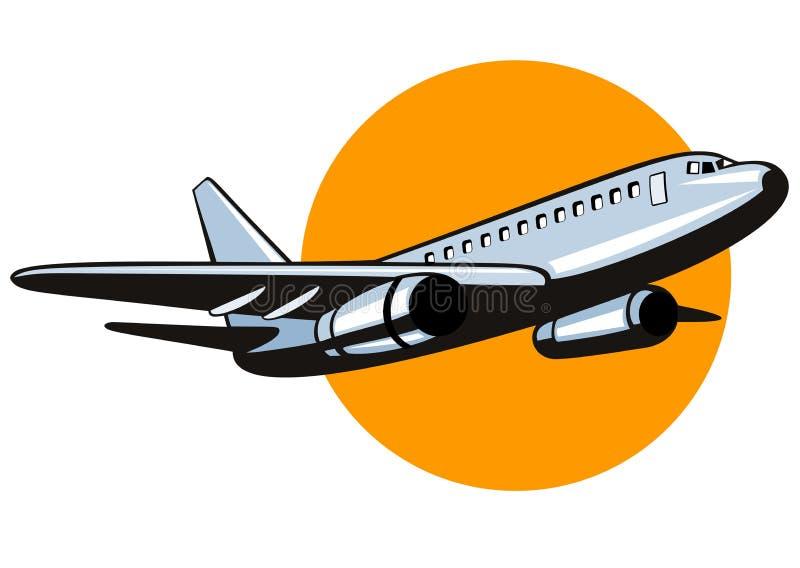 jumbo jet samolot. ilustracja wektor