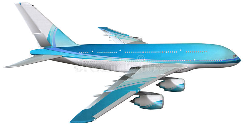 Jumbo Passenger Jet Airliner Isolated vector illustration