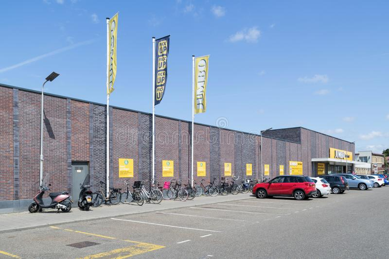 Jumbo supermarket in Hillegom, The Netherlands. Jumbo is the second-largest supermarket chain in the Netherlands royalty free stock photo