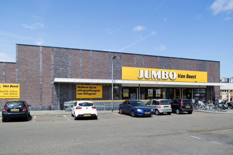 Jumbo supermarket in Hillegom, The Netherlands. Jumbo is the second-largest supermarket chain in the Netherlands stock images