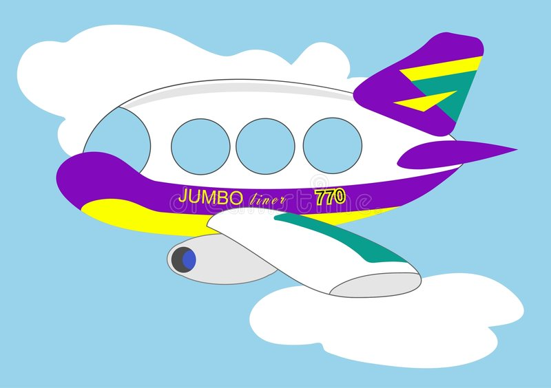 Jumbojet stock illustratie