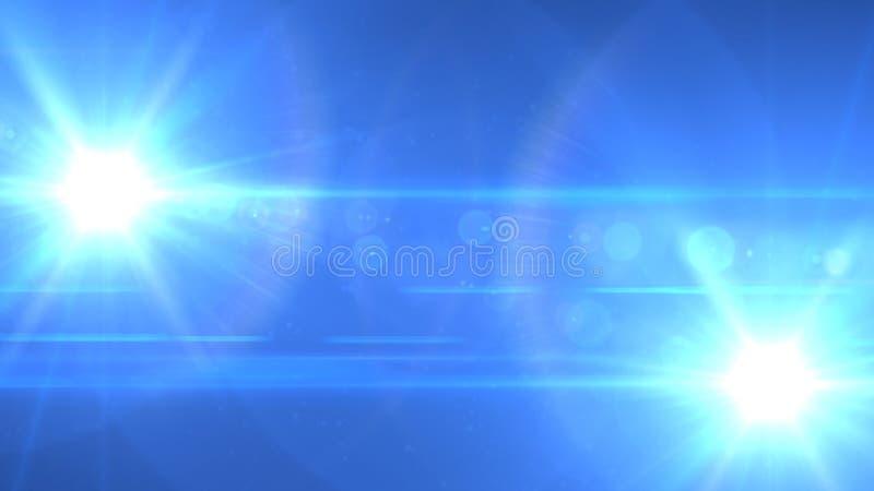 Jumeau léger vers le haut et vers le bas bleu images stock