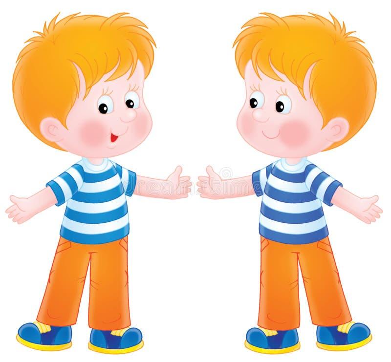 Jumeaux illustration de vecteur