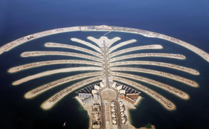 Jumeirah棕榈岛在迪拜 免版税库存图片