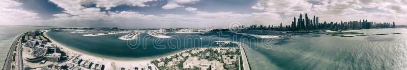 Jumeirah棕榈岛,迪拜-阿拉伯联合酋长国的鸟瞰图 库存图片