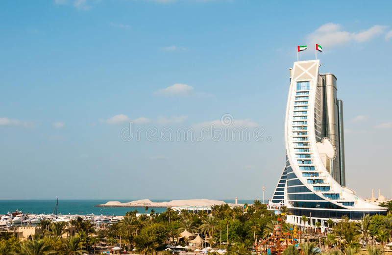 Jumeirah海滩旅馆 免版税库存图片