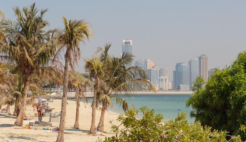 Jumeirah Beach Park in Dubai royalty free stock photo
