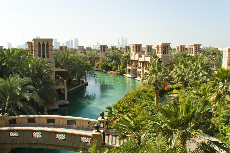 Jumeirah de Madinat fotografia de stock