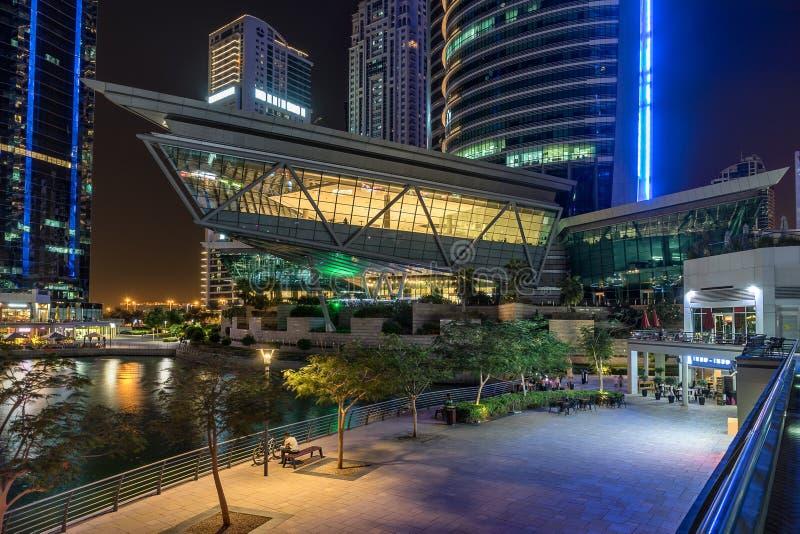 Jumeirah Lakes in Dubai. Jumeirah Lakes is a residential development along the Dubai marina in the UAE stock photos