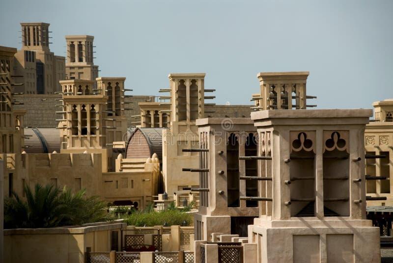 jumeirah madinat windtowers στοκ φωτογραφία