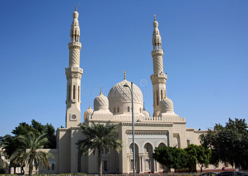 Jumeirah Mosque in Dubai stock photography