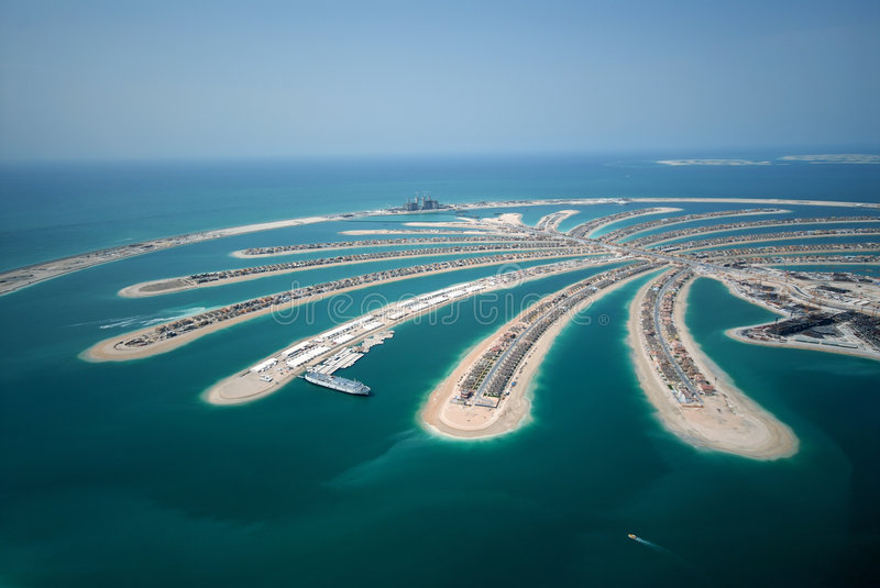 Jumeirah Palm Island royalty free stock images
