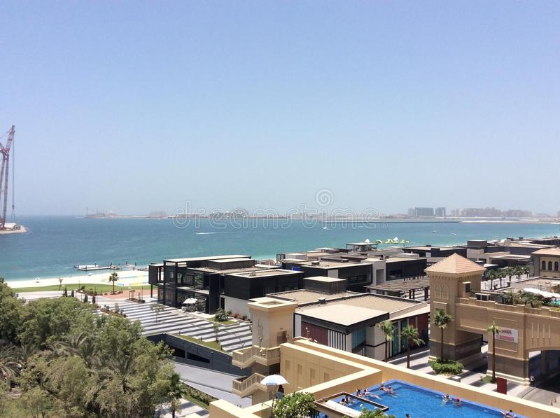 Jumeirah strand arkivbild
