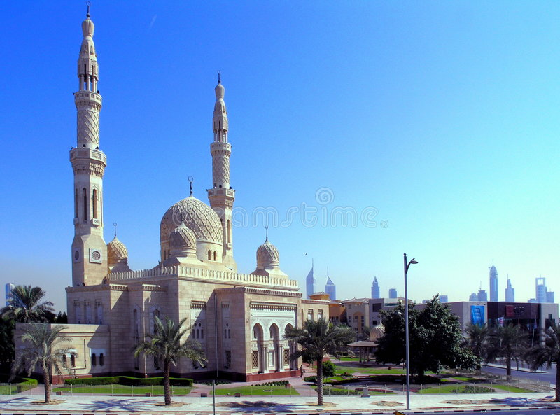 jumeirahmoské royaltyfria bilder