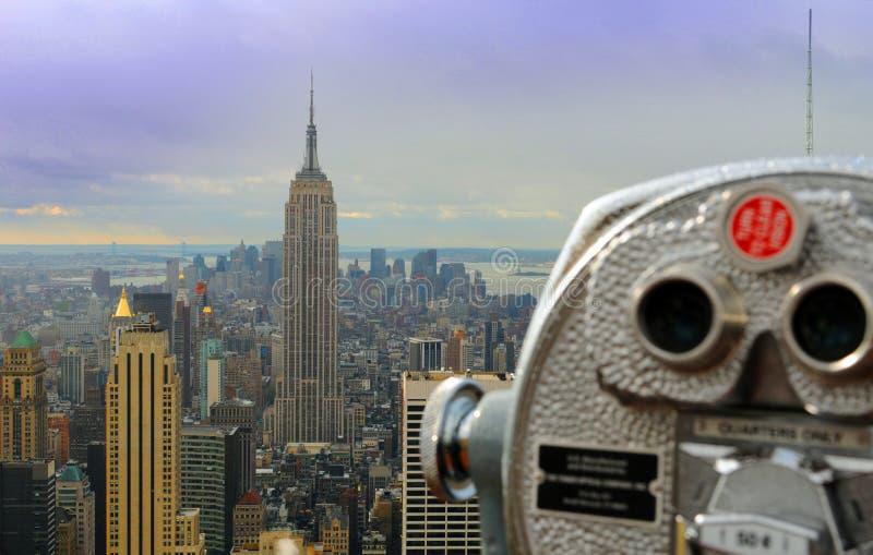Jumelles de touristes à New York photo libre de droits