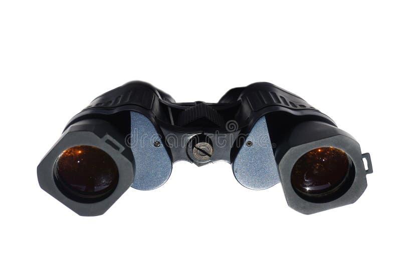 Jumelles noires d'isolement sur le fond blanc photographie stock