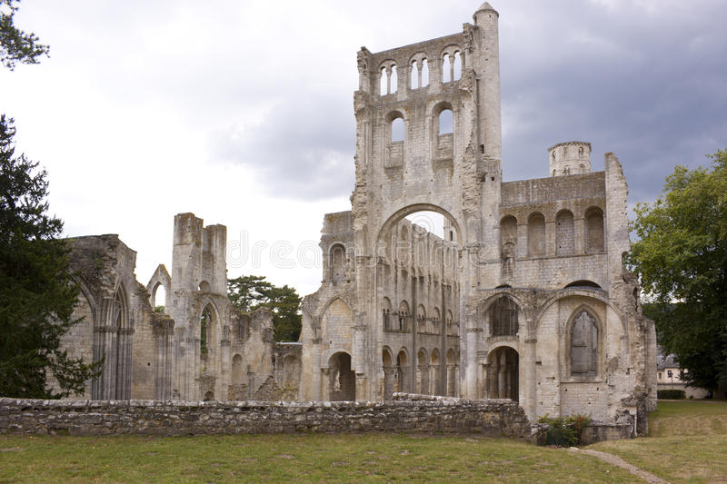 Jumieges. Abbey of Jumieges in Normandy royalty free stock photography