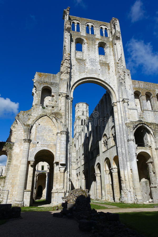 Jumieges Abbey stock images