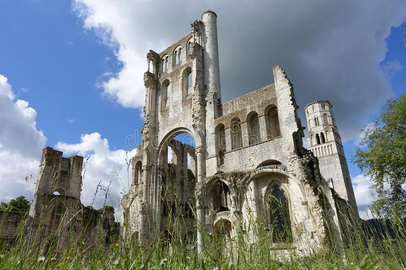 Jumieges Abbey royalty free stock photo