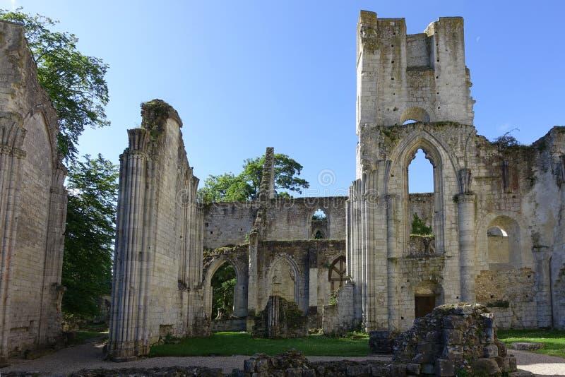 Jumieges abbotskloster arkivfoton