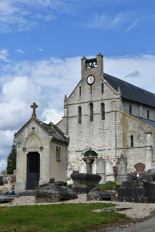 Jumieges, France - 22 juin 2016 : Église de Valentin de saint images stock