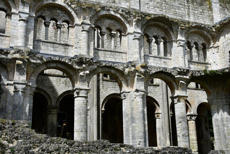 Jumieges, Frankrijk - 22 juni 2016 : Saint Pierre abbey royalty-vrije stock afbeeldingen