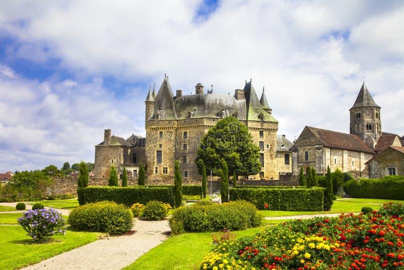 Jumilhac le盛大的法国的城堡- 库存照片