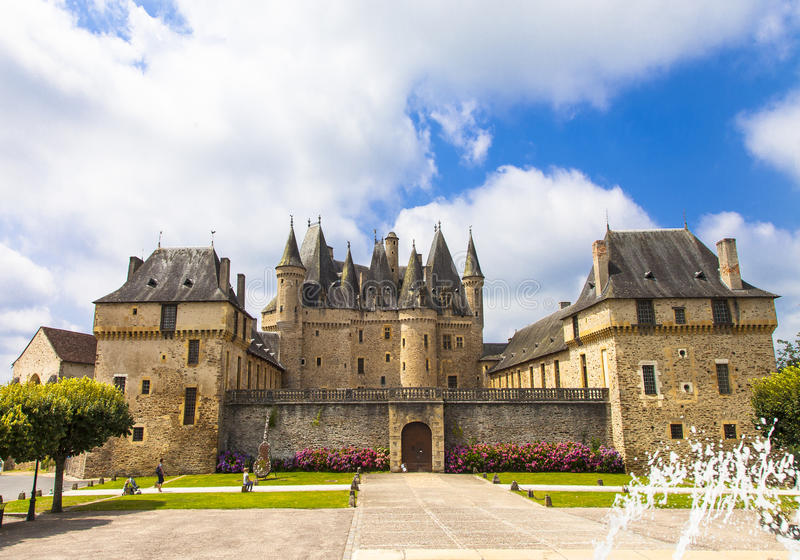 Jumilhac-le-грандиозный замок стоковые фотографии rf