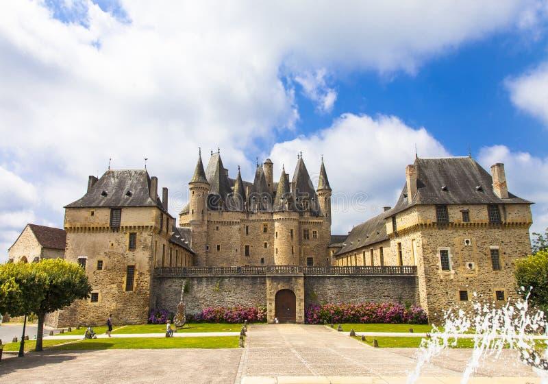 Jumilhac-le-grande castello fotografie stock libere da diritti
